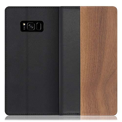 LOOF Nature Galaxy S8+ / SC-03J / SCV35 ケース 手帳型 カバー 天然木 本革 ウッド 手帳型ケース 手帳型カバー 携帯ケース 携帯カバー スマホケース スマホカバー ベルト無し 木製 スタンド機能付き カード収納 カ