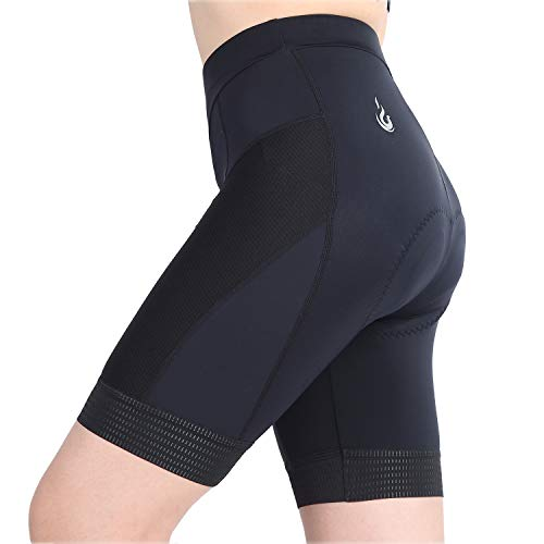 beroy Women Breathable Bike Shorts, Cycling Shorts with 3D Gel Pad - Black - Medium