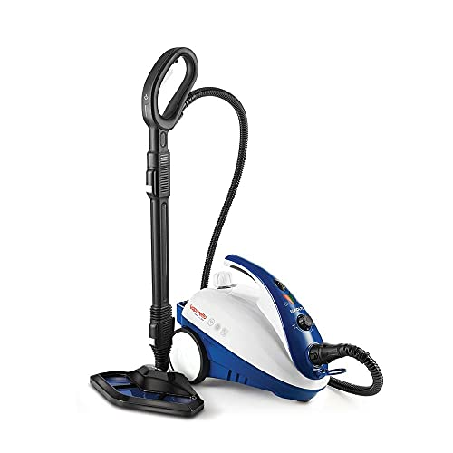Polti Vaporetto Smart 40 Mop-Generador de Vapor con Cepillo mopa Integrado, 1800 W, 1.6 litros, 1.6, plástico, Acero Inoxidable, Azul