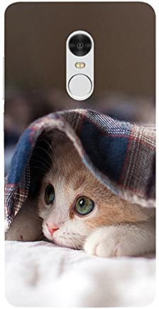 Casotec Sleepy Kitten Design 3D Printed Hard Back Case Cover for Xiaomi Redmi Note 4