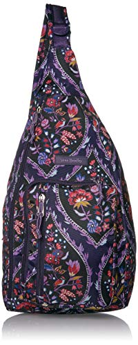 vera bradley kindles Vera Bradley Women's Lighten Up Sling Backpack, Black, One Size
