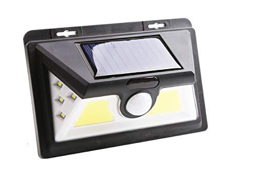Sbdd Solar Powered Lights 2 Pack Led Solar Outdoor Cob Street Light Human Body Sensor Light Solar Rechargeable Solar Sensor Wall Light 2 Packs 44CON-8-LED
