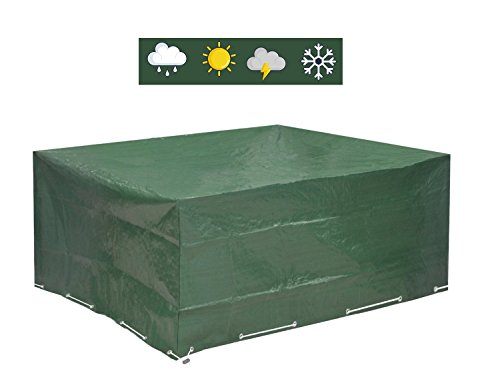 Glorytec Housse de Protection étanche pour Meubles de Jardin Patio Table Meubles Couverture pour Meuble de Jardin Rectangulaire 250x210x90 cm