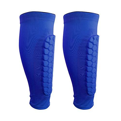 OhhGo Schienbeinschoner für Fußball, Basketball, Radfahren, Klettern, 2 Stück M Blue-M