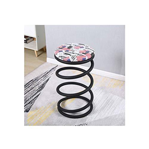 Barkrukken, barkrukken, set van 2, veerbarkrukken, retro knutselen, ijzer, waterdicht, roestvrij, 42x42x73cm, n