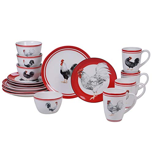 Certified International Homestead Rooster 16 pc Dinnerware Set, Service for 4