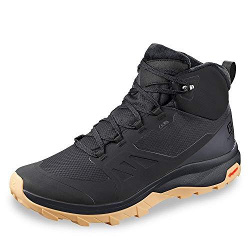 Salomon OUTsnap CSWP, Zapatillas de Senderismo Hombre, Color: Negro (Black/Ebony/Gum1a),...