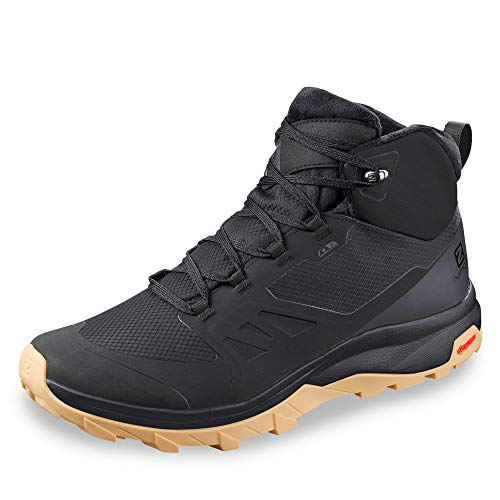 Salomon OUTsnap CSWP, Zapatillas de Senderismo Hombre, Color: Negro (Black/Ebony/Gum1a), 42 EU
