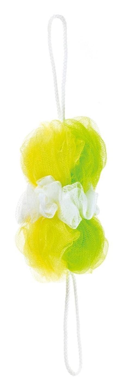 層用心倍増マーナ ボディースポンジ 「背中も洗えるシャボンボール」 ミックス グリーン B873G