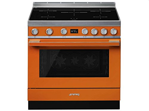 Piano de cuisson Smeg CPF9IPOR - Orange - Classe énergétique A+ / Plaque Induction / Four Electrique Double chaleur tournante - Pyrolyse - Porte Froide - Porte tempérée - Tournebroche