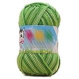 Pigeon Fleet 3 madeja DIY artesanía Hilo de algodón Suave para Bolso Hecho a Mano Crochet Doll Baby Hat, Verde