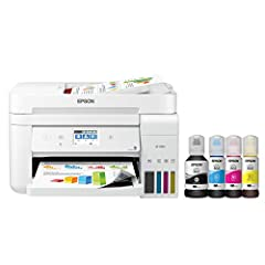 Epson EcoTank ET-4760 Wireless Color All-in-One Cartridge-Free Supertank Printer with Scanner, Copier, Fax, ADF and Ethernet Epson EcoTank is the #1 Best Selling Supertank Printer You can save up to 90 percent with low-cost replacement ink bottles vs...