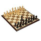 Zyj-Chess Ajedrez de Viaje Grado de Madera Grande Juego de ajedrez de Trabajo Hecho a Mano de Madera Maciza Piezas de ajedrez y espectáculos for niños Regalo Juego de Mesa Juego de ajedrez
