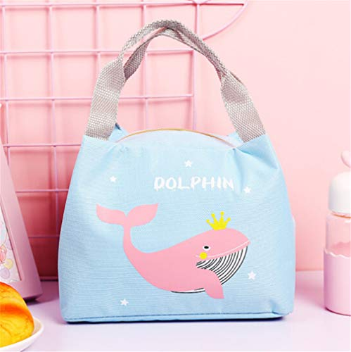Cartoon Stijl Walvis Patroon Lunch Tas, Oxford Doek Waterdichte voedsel opslag Tas, Multifunctionele Lunch Tas