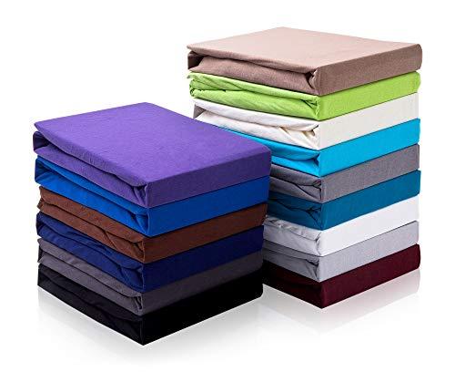 Hometex Premium Textiles Topper Spannbettlaken Spannbetttuch bis 10cm Steghöhe | Bettlaken für Boxspringbett Topper | 100% Baumwolle ÖKO-TEX Standard | Nougatbraun 180-200 x 200 cm