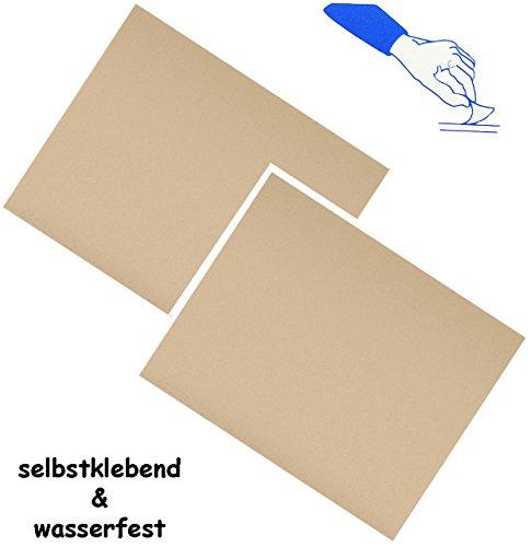 alles-meine.de GmbH 6 Stück _ Selbstklebende Reparatur Aufkleber - Nylon -  beige / Creme - hautfarben  - wasserabweisend & wasserdicht - Sticker / Kleber - Flicken - für Bekle..