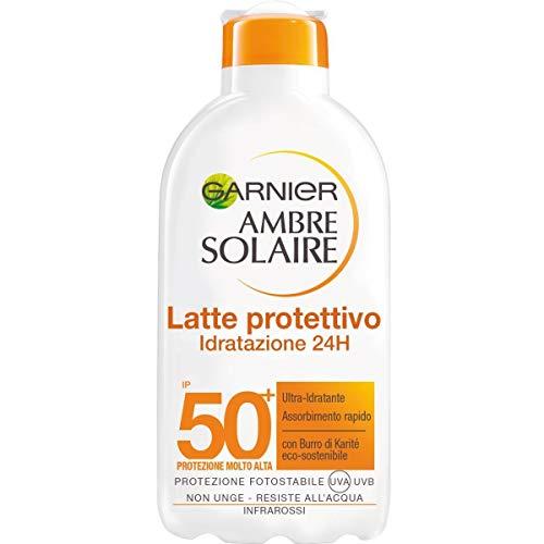 Garnier Ambre Solaire Latte Protettivo IP 50+, Protezione Molto Alta, Idratazione 24H, 200...