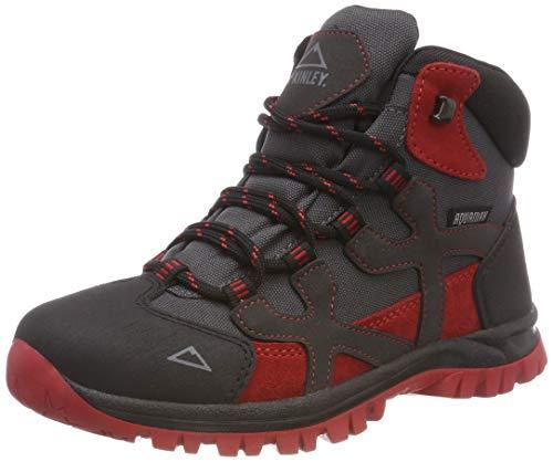 McKINLEY Unisex-Kinder Trekkingstiefel Santiago Pro AQX Trekking- & Wanderstiefel, Grau (Anthracite/Red Dark 000), 37 EU