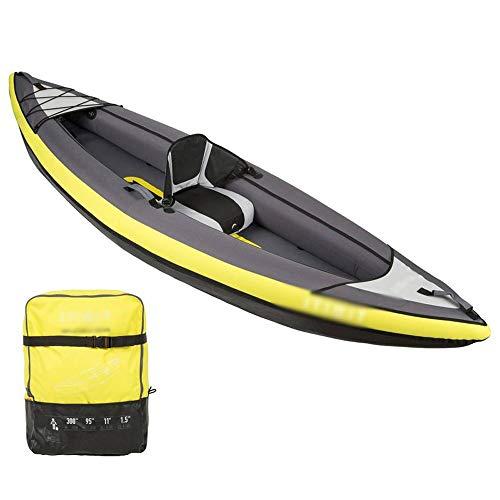 BZLLW Kayak Inflable, 1/2/3 Persona Kayak Inflable Conjunto de Aluminio con remos y Bomba de Aire de Alto Rendimiento, Asiento cómodo, Seguro y cómodo for la ergonomía (Size : 3 Person)