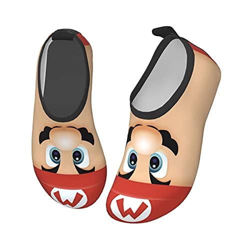 Su-Per Poster Ma-Rio - Zapatos de agua para niños de secado rápido para playa y natación al aire libre, Negro1., 29 EU