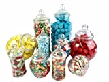 10 Jar Vintage Victorian Pick & Mix Sweet Shop Candy Buffet Kit Party Pack