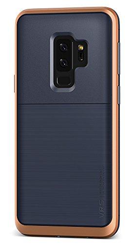 Samsung Galaxy S9Plus custodia, VRS design dual layer protettiva del telefono [Indigo + blush Gold] Premium antiurto in silicone TPU   Resistente PC bumper cover [High Pro Shield] per Samsung S9Plus