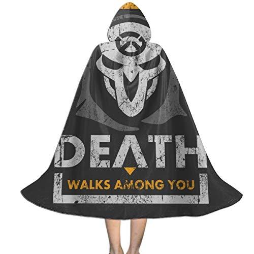 NUJSHF Reaper or Die Ov-erwatch Capa con Capucha Unisex para Halloween, Navidad, decoracin de Fiestas, Disfraces de Cosplay