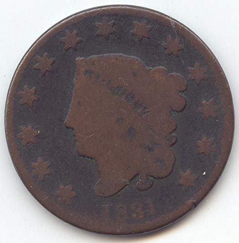 1831 Coronet Head Large Cent About Good