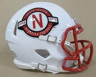 Riddell NCAA Nebraska Cornhuskers Helmet Mini SpeedHelmet Replica Mini Speed Style 125th Anniversary, Team Colors, One Size