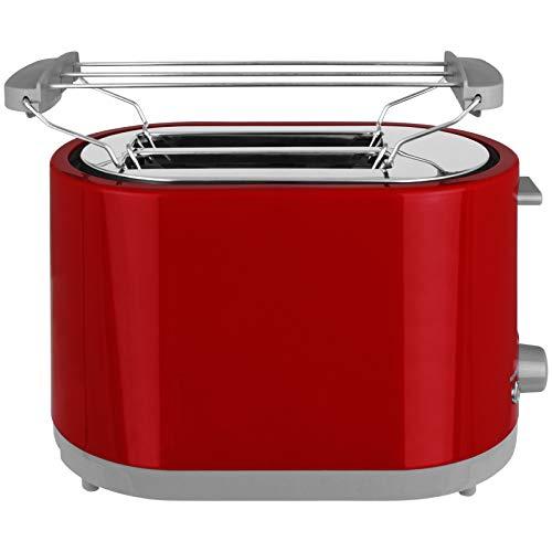 Toaster 750W oder 1400W mit Langschlitz mit Größen- und Farbwahl Sandwichmaker 2 oder 4 Scheiben Langschlitztoaster Sandwich Maker (Rot, 2-Scheiben)
