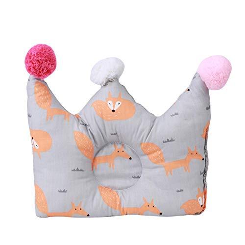 Almohada para bebés para recién nacidos Almohada antivuelco transpirable Protección para la cabeza del bebé Cojín para dormir para prevenir la cabeza plana del bebé, 3