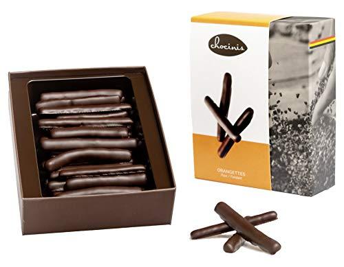 Duva Premium Cáscara de naranja confitada en chocolate, Naranjas de chocolate negro belga 200g