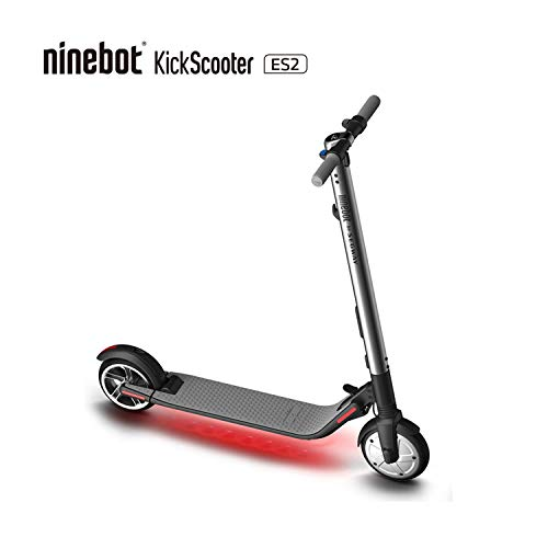 Segway Ninebot ES2 Folding Electric Kick Scooter, Silver (2018 Version)