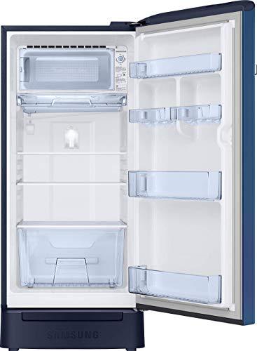 Samsung 198 L 5 Star Inverter Direct Cool Single Door Refrigerator(RR21T2H2WCU/HL, Camellia Blue, Base Stand with Drawer)