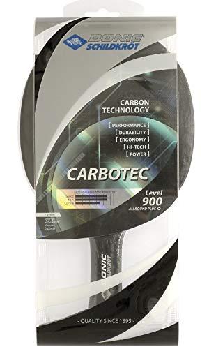 Donic-Schildkröt Tischtennisschläger CarboTec 900, 20% Carbon, 1,9 mm Schwamm, Champion QRC - ITTF Belag, konkav, 758212