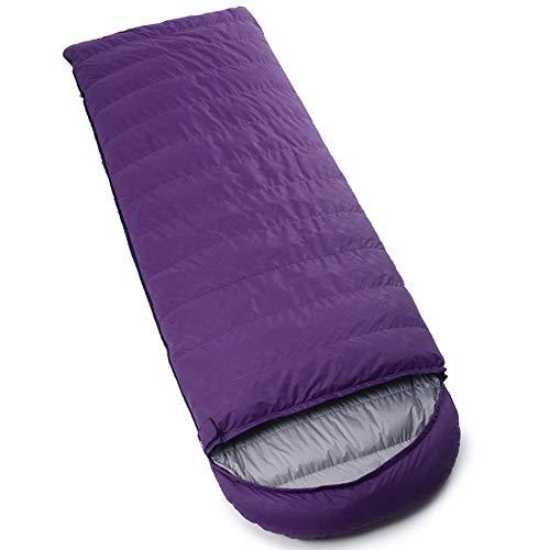 RongDuosi Purple Down Slaapzak Ultralight Outdoor Bergbeklimmen Camping Borduurwerk Volwassen Slaapzak Wit Gans Down Vier Seizoenen Universele Outdoor Uitrusting Zwembed