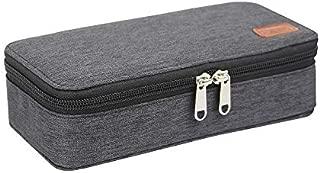 Solid Color Pencil Case Big Capacity Pencil Bag Storage Pens Holder Makeup Bag Organizer Office Supplies Stationery Pouch Bag Large Capacity Creative Pencil case (Color : Black)