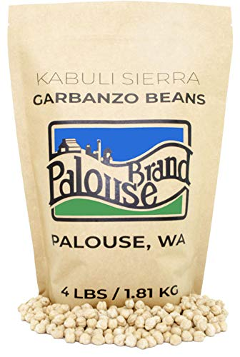 Garbanzo Beans | Non-GMO Project Verified | 4 lb | 100% Non-Irradiated | Certified Kosher Parve | USA Grown | Field Traced (Kraft Bag)