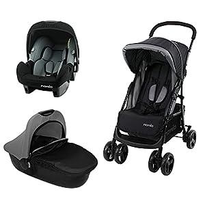 Nania, Cochecito combinado 3 en 1 Texas + silla para coche Beone 0+ (0-13 kg) + capazo para cochecito Flora (sin accesorios)