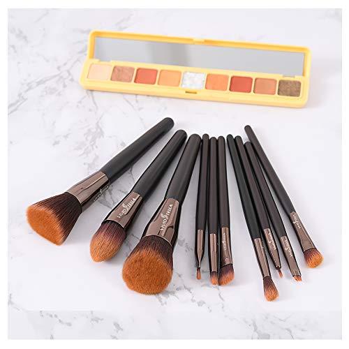 Set de Brochas de Maquillaje Profesional Herramientas Cosméticas Premium Bolsa de Viaje de Regalo Para Mujeres Niña 10 Piezas