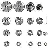 VEVOR Mini Engranaje CJ0618 18 pcs Ampliamente Utilizado en Fresadoras T30-T60 Formadoras de Engranajes Taladradoras Talladoras con Fresa Madre U Otras Ocasiones de Transmisión de Maquinaria