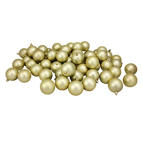 1654-60ct Champagne Gold Shatterproof Matte Xmas Ball Ornaments 2.5' – QQ05