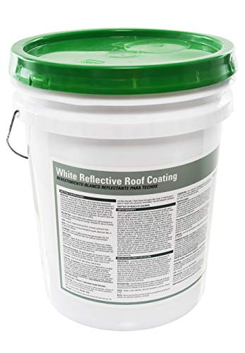 Jetcoat Cool King Elastomeric Acrylic Reflective Roof Coating, White, 5 Gallon, 5 Year Protection