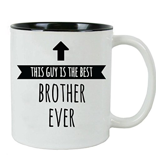 This Guy is the Best Brother Ever 11 oz Ceramic Coffee Mug with Gift Box, Black