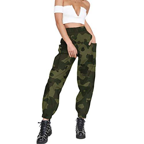 FeMereina Camo Joggers para Mujer Pantalones Cargo Slim Fit de Talle Alto con Bolsillos, Pantalones Cargo Pantalones de Chándal para Jogging de Baile