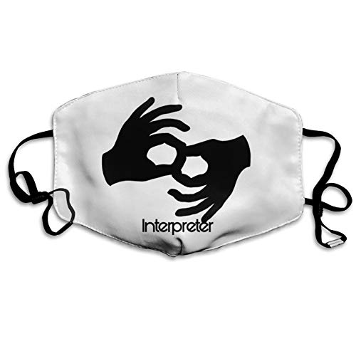 ASL Sign for Interpreter Replaceable Filter Wind and dust mask Unisex Cute Mouth Cover for Outdoor