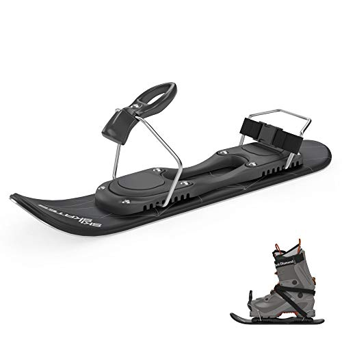 Skiskates Shortest skis Ever Ice Skates for Snow (Black | for Ski Boots)