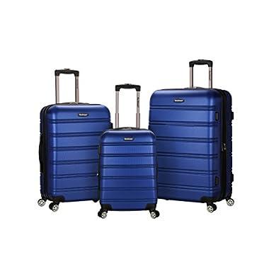 Rockland Luggage Melbourne 3 Piece Set, Blue, One Size