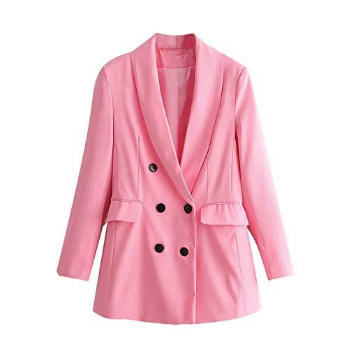 Green Plaid Vintage Chic 2-rijige olie blazer mantel vrouwen lange mouwen kantoor dames bovenkleding vrijetijdsjas tops