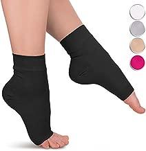 Ankle Brace for Plantar Fasciitis - 1-Pair Compression Support Sleeve for Women & Men - Black Socks - Medium